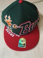 Milwaukee Bucks  NBA Snapback Hat Cap RARE Throwback NEW~47 BRAND~CHRISTMAS