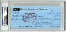 Maurice Richard SIGNED CHECK Montreal Canadiens (DEC) PSA/DNA AUTOGRAPHED