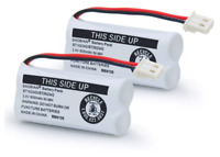 BAOBIAN Battery Compatible With For VTech Cordless Phone (2 Pack) 2.4Volt 600mAh
