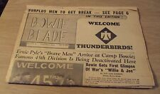 """ARMY Special Issue 1945 WWII """"Camp Bowie""""~45th INFANTRY Div ERNIE PYLE~Texas~"""