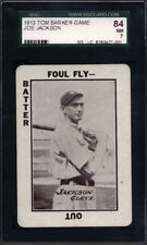 1913 WG6 SHOELESS JOE JACKSON SGC 7 NM Vintage Old Tom Barker Baseball Game Card