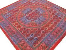 Couvre-lit indien Fait main Broderie Multicolore Dessus de lit Couverture Boho