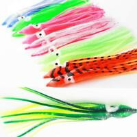 10pcs Octopus Squid Skirt Lures Bait Saltwater Fishing Soft Lures Trolling Bait