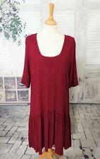 GHOST Red textured drop waist flapper dress size M