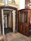 Rare Walnut & Oak Mansion Door Frame Screen Encasement Trim Set & Hardware