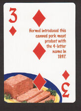 SPAM Canned Pork Luncheon Meat Neat Playing Card #7Y3