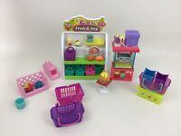 Fruit & Veg Shelf Shopkins Playset Moose Lot (33pc) Toys w Accessories & Figures