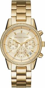 MICHAEL KORS Damen Chronograph Armbanduhr 37 mm Armband Edelstahl MK6356