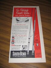 1952 Print Ad South Bend Joe Bates Jr Fishing Rods South Bend,IN