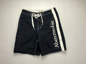 ABERCROMBIE & FITCH Board Shorts - Medium - Navy - Great Condition - Men's
