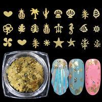 paillette or metal parts hollow clou paillettes manucure tips nail art glitter