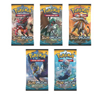 Pokemon Sun and Moon Booster Packs New Factory Sealed