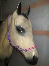 Tough-1 Poly Rope Tied Halter with Crystal Accents - PURPLE/PINK - HORSE