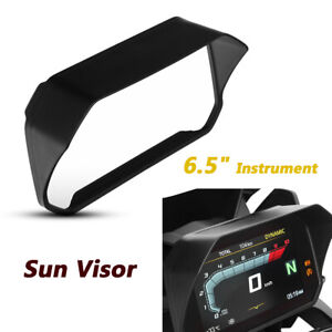 Motorcycle 6.5 Inch Instrument Sun Visor Protector Cover Glare Shield Universal