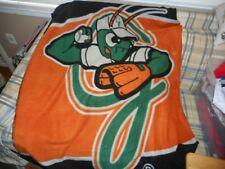 """Greensboro Grasshoppers fleece blanket sz 60"""" x 40""""  - DSCN2542"""
