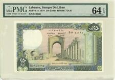 Lebanon 250 Livres Currency Banknote 1978 PMG 64 EPQ CHOICE UNC EPQ
