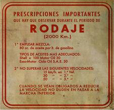 "Rodaje ""Vintage"" Aufkleber Spanisch 3-Gang nur hier! 3-geared spanish Motovespa"