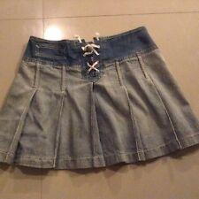 Biscote Denim Skirt Size 1 Mini Sexy Unique France Vintage Dance Club Summer