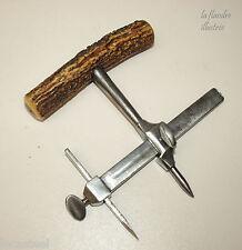 beau compas à rondelle de bourrelier - métier du cuir
