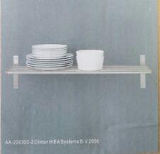 """IKEA Wall Shelf 31-1/2"""" Stainless Steel Pot Pan Holder Rack Rail Hanger GRU"""