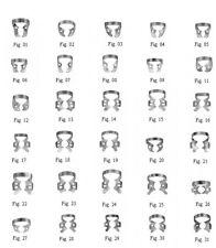 100 Pcs. Endodontic Rubber Dam Clamps Mix Dentist DENTAL Instrument Free Ship