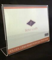Better Crafts Horizontal Slanted L-Shape Acrylic Sign Holder - 2 Pack.