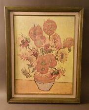 SUNFLOWERS By Vincent Van Gogh ; Vintage Framed Print Frame size: 22x28