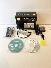 Nikon COOLPIX S4300 16.0MP Digital Camera - Silver Complete In Box + SD Card