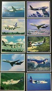1999/2001 Top Pilot Trading Cards FEDEX Planes Complete 10 Card Set