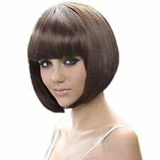 RoyalStyle® 8 30cm Short Hair Wig Natural As Real Cosplay Bangs Bob Brown
