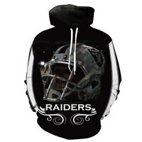 Oakland Raiders Hoodie Pullover Sweatshirts Coat Sweater Football Fans Gifts