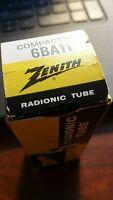 New Vintage Zenith 6BA11 Vacuum Tube NIB Tested NOS