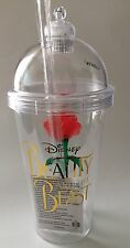 Beauty and The Beast Souvenir Rose Light Up Cup Tumbler Disney Theme Parks NEW