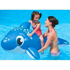 "63"" 1.57m INFLATABLE RIDE ON BIG SIZE DOLPHIN BEACH SWIMMING POOL TOY PADDLING"