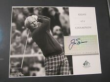Jack Nicklaus PGA Golf Legend signed Upper Deck SP signs of a Champion photo
