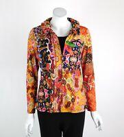 Joseph Ribkoff Twin Set Jacket & Top Zip Front Long Sleeves Paisley Size 8 New