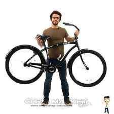 "Men's 29"" Black Cruiser Bike Bicycle Genesis Onex Aluminum Frame Fat Tire"