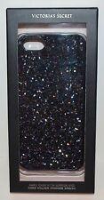 VICTORIA SECRET BLACK GLITTER IPHONE 5 5S 5C HARD CASE SLEEVE MIRROR CARD HOLDER