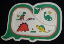 New listing Cute Vintage 1987 Oneida Dinosaur Shape Divided Melamine Child's Plate
