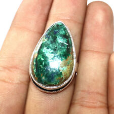 7.5 Fashion Jewellery , B1638 Chrysocolla 925 Silver Plated Ring Us