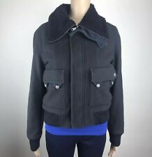Diesel Jacket Small Womens Navy Blue Wool Blend Fully Lined Winter Coat