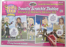 Traveling Scratching Fashion Dress-Up Stickers Deluxe Kit: Scratch Magic Series