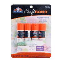 Elmer's CraftBond Repositionable Glue Sticks, Clear, Non-Toxic, Pack of 4 E4020