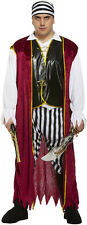 ADULT PIRATE CARIBBEAN MENS/MANS PLUS SIZE XXL FANCY DRESS OUTFIT/COSTUME NEW