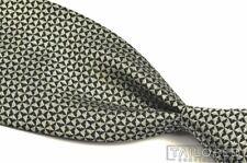 "RALPH LAUREN PURPLE LABEL Black Silver Geometric 100% Silk Luxury Tie - 4.25"""