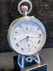 1925 Sterling Silver Chronograph Pocketwatch  WW2 Providence Richard Dimbleby