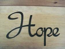 Hope- Black Wrought Iron Wall Art Metal Home Decor Primitive