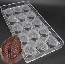 3d Leaf Shaped Candy Molds Hard Polycarbonate Chocolate Mold Plastic Baking Tray
