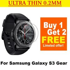 3x For Samsung Gear S3 Frontier Classic Tempered Glass Screen Protector Watch