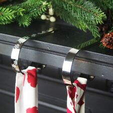 CHRISTMAS STOCKING HOLDER MANTLE MANTEL CLIP - ORIGINAL HD - ONE CLIP - SILVER